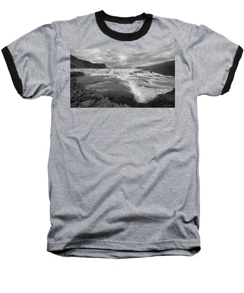 Baseball T-Shirt featuring the photograph Gullfoss Waterfall No. 1 by Joe Bonita