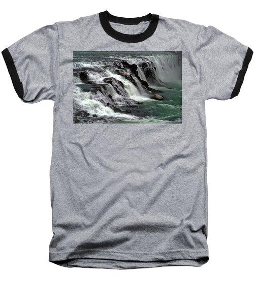 Gullfoss Waterfalls, Iceland Baseball T-Shirt by Dubi Roman
