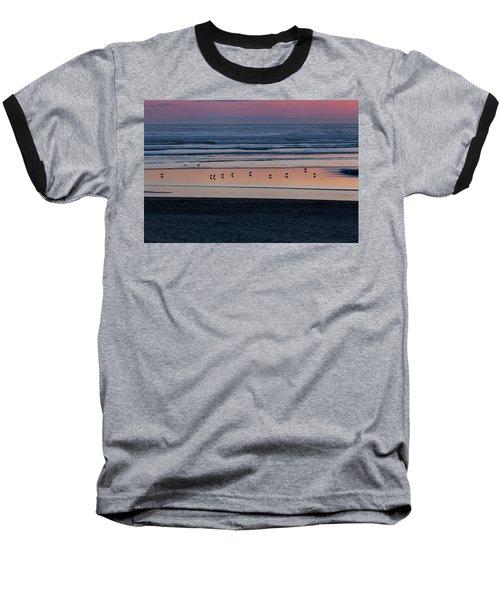 Gulls At Sunset Baseball T-Shirt