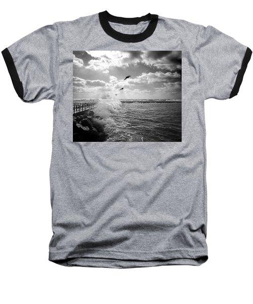 Gulls In A Gale Baseball T-Shirt