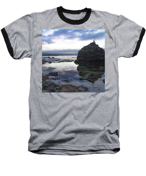 Baseball T-Shirt featuring the photograph Gulls With Clouds by Lora Lee Chapman