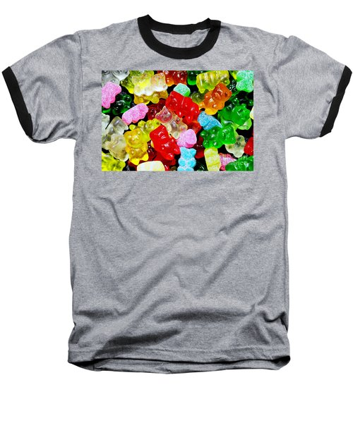 Gummy Bears Baseball T-Shirt by Vivian Krug Cotton