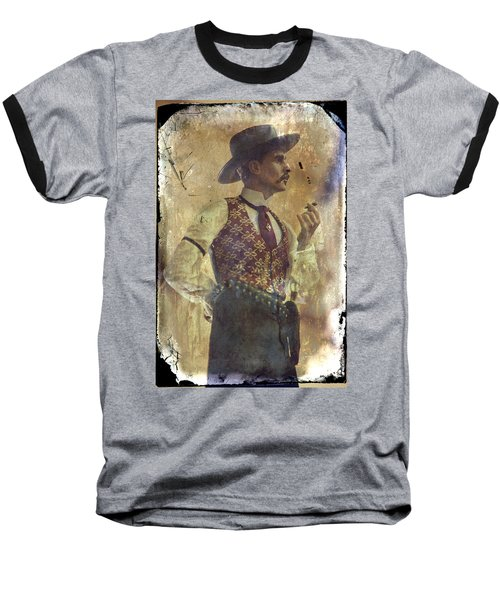 Baseball T-Shirt featuring the photograph Gunslinger IIi Doc Holliday In Fine Attire by Toni Hopper