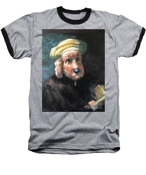 Baseball T-Shirt featuring the painting Gunther's Self Portrait by Diane Daigle
