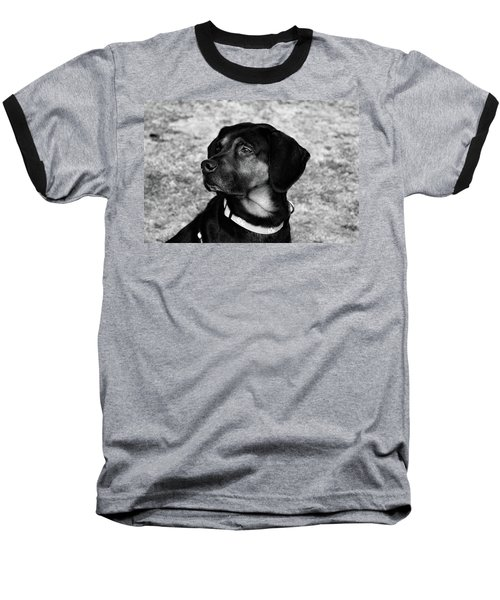 Gus - Black And White Baseball T-Shirt