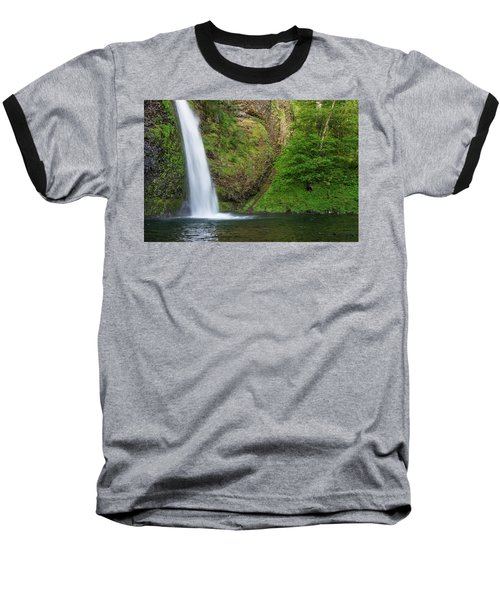 Baseball T-Shirt featuring the photograph Gushing Horsetail Falls by Greg Nyquist
