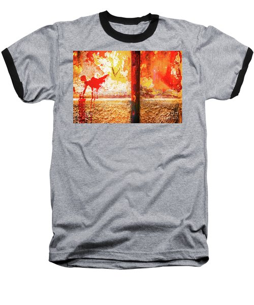Baseball T-Shirt featuring the photograph Gutter And Decayed Wall by Silvia Ganora