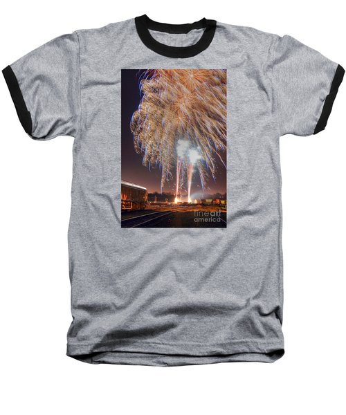 Guy Fawkes Night Fireworks Baseball T-Shirt