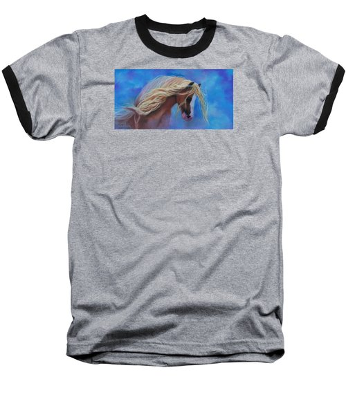 Baseball T-Shirt featuring the pastel Gypsy In The Wind by Karen Kennedy Chatham