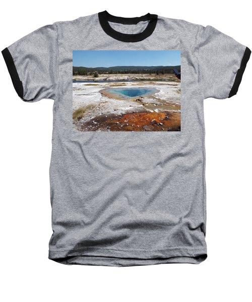 Gyser Basin Baseball T-Shirt