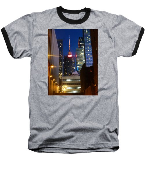 H M Building Baseball T-Shirt