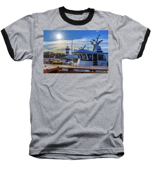 Habour Town Lighthouse And Marina Baseball T-Shirt