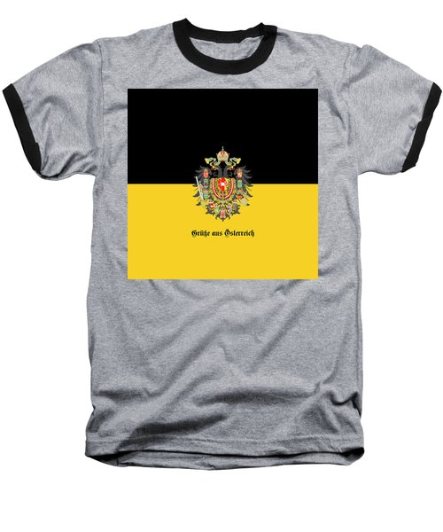 Habsburg Flag With Imperial Coat Of Arms 1 Greetings Baseball T-Shirt