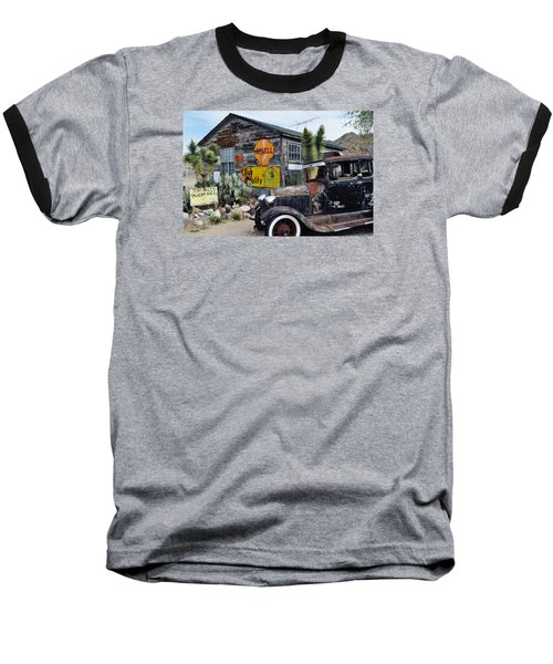 Hackberry Route 66 Auto Baseball T-Shirt by Kyle Hanson