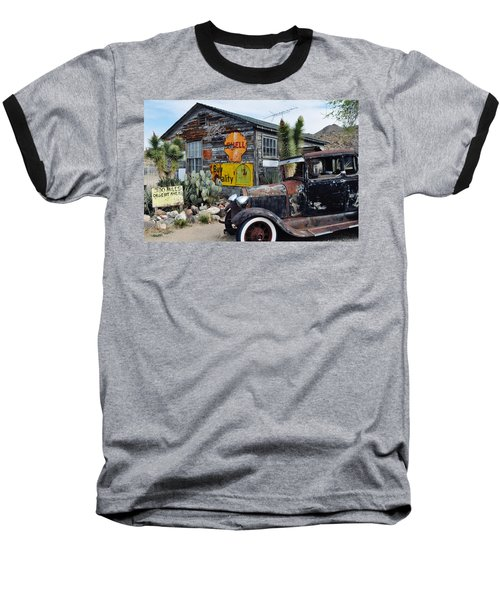 Hackberry Route 66 Auto Baseball T-Shirt