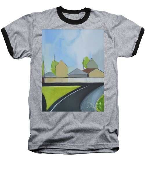 Hackensack Exit Baseball T-Shirt by Ron Erickson