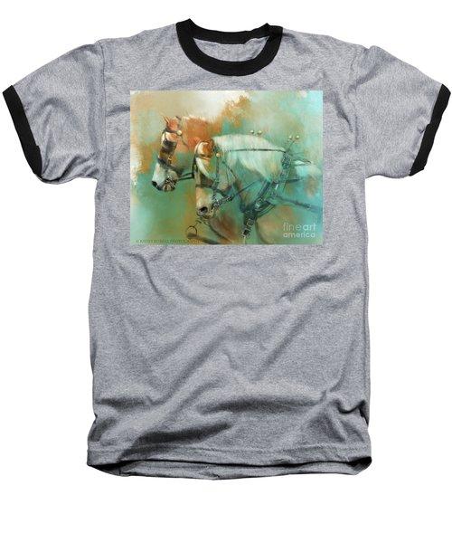 Haflinger Team Baseball T-Shirt by Kathy Russell