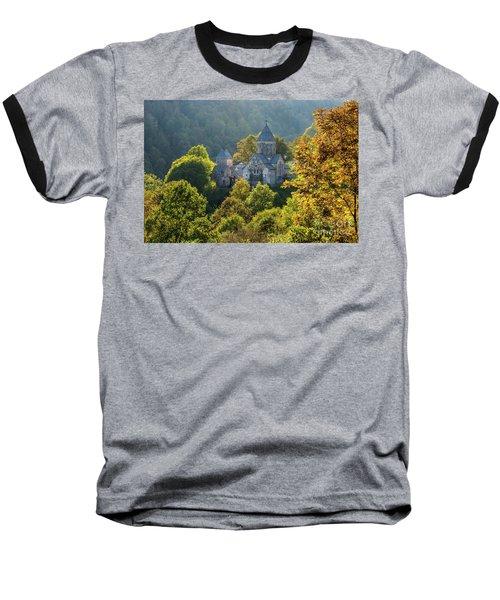 Haghartsin Monastery With Trees In Front At Autumn, Armenia Baseball T-Shirt by Gurgen Bakhshetsyan