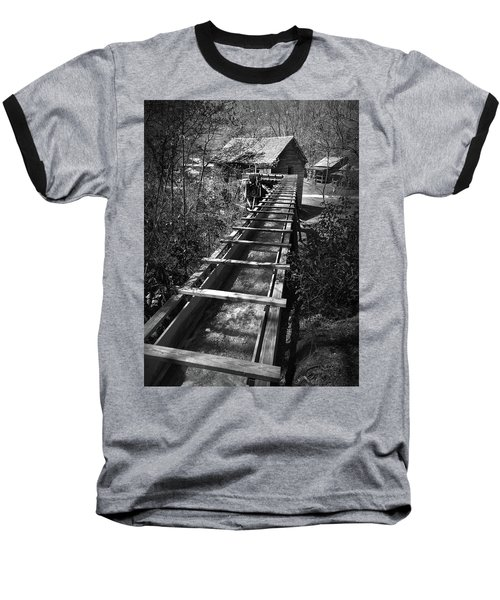 Hagood Gristmill Waterwheel At Hagood Mill Baseball T-Shirt by Kelly Hazel