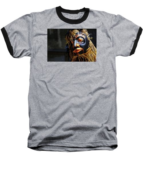 Haida Head Baseball T-Shirt by Cameron Wood