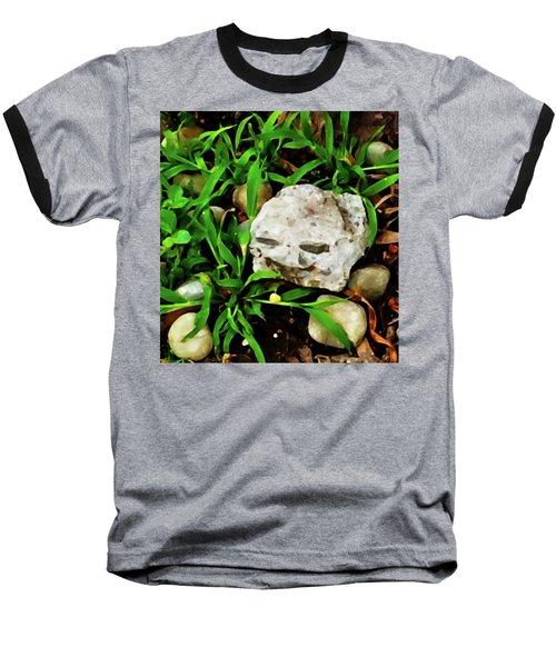 Haight Ashbury Smiling Rock Baseball T-Shirt by Gina O'Brien