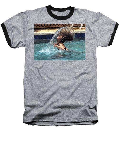 Hair Toss Baseball T-Shirt