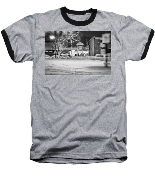 Hale Barns Square In The Snow Baseball T-Shirt