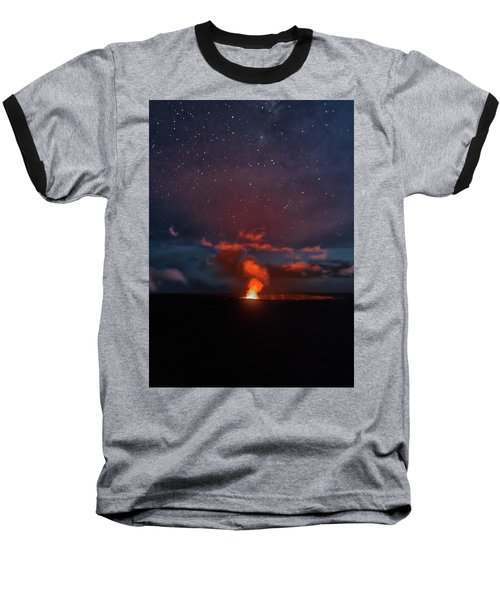 Halemaumau Crater At Night Baseball T-Shirt