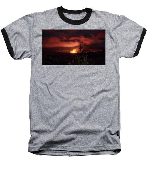 Halemaumau Crater Baseball T-Shirt