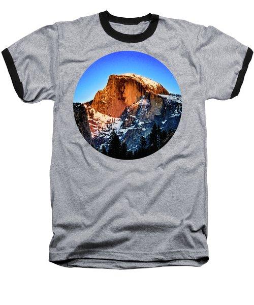 Half Dome Aglow Baseball T-Shirt