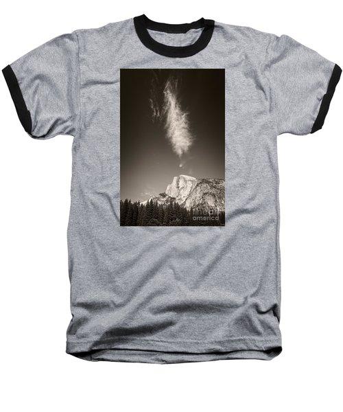 Half Dome And Cloud Baseball T-Shirt