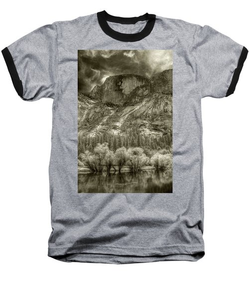 Half Dome Over Mirror Lake Baseball T-Shirt