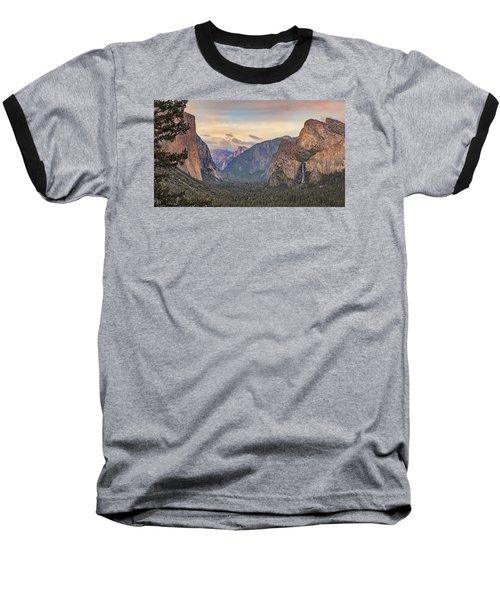Yosemite Sunset Baseball T-Shirt by Harold Rau