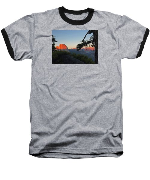 Baseball T-Shirt featuring the photograph Half Dome - Sunset On A Bright Day by Walter Fahmy