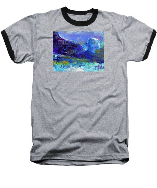Half Dome Winter Baseball T-Shirt by Walter Fahmy