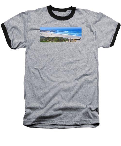 Half Moon Bay Baseball T-Shirt by Holly Blunkall