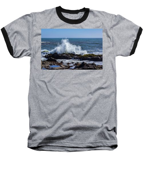 Wave Crashing On California Coast 1 Baseball T-Shirt