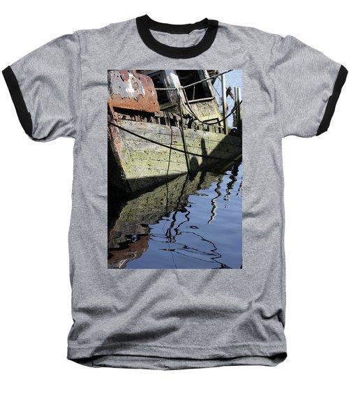 Half Sunk Boat Baseball T-Shirt
