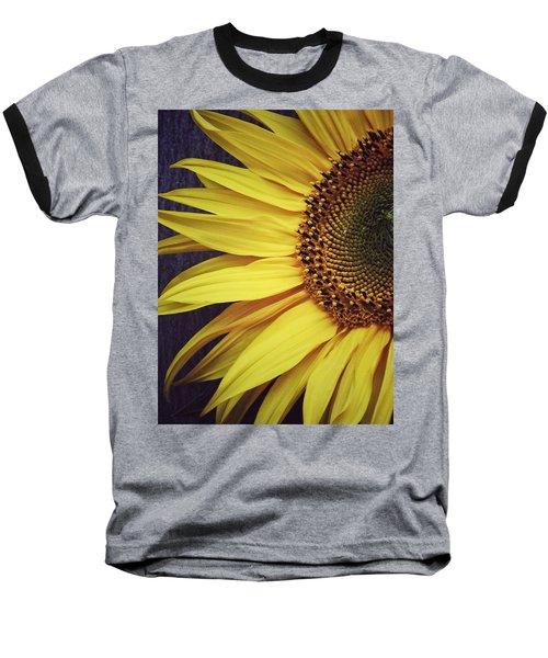 Half Yellow Baseball T-Shirt by Karen Stahlros