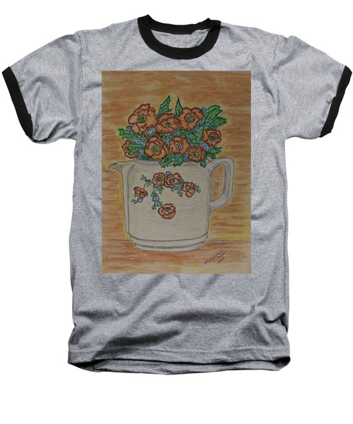 Hall China Orange Poppy And Poppies Baseball T-Shirt by Kathy Marrs Chandler