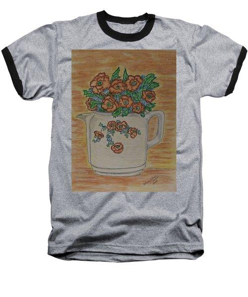 Hall China Orange Poppy And Poppies Baseball T-Shirt