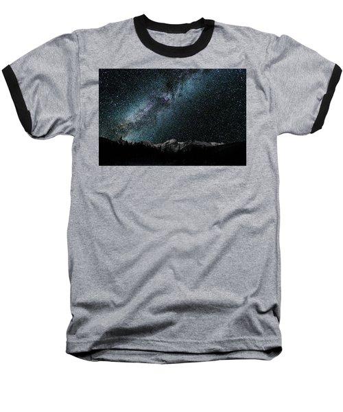Hallet Peak - Milky Way Baseball T-Shirt