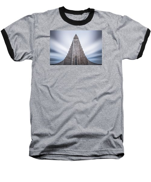 Hallgrimskirkja Cathedral Baseball T-Shirt by Brad Grove
