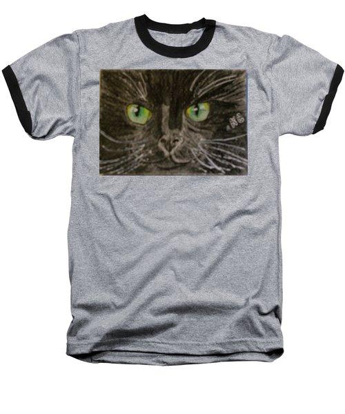 Halloween Black Cat I Baseball T-Shirt by Kathy Marrs Chandler