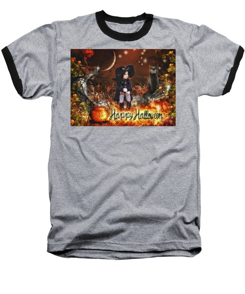 Halloween Girl Baseball T-Shirt