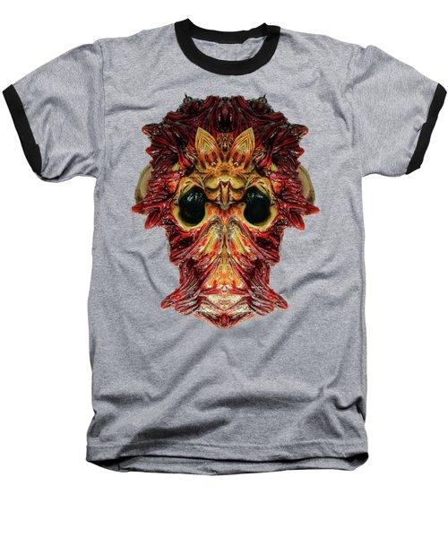 Halloween Mask 01214 Baseball T-Shirt by Rafael Salazar