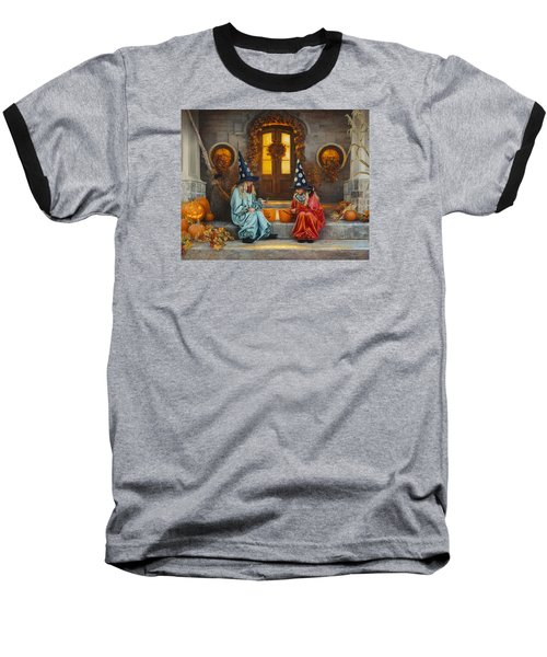 Halloween Sweetness Baseball T-Shirt by Greg Olsen