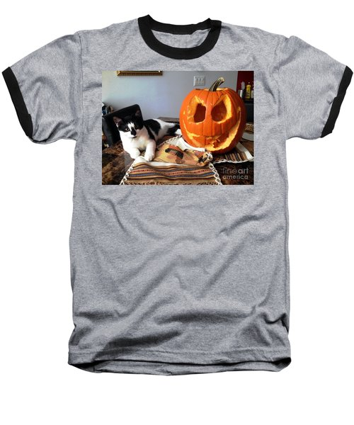 Baseball T-Shirt featuring the photograph Halloween by Vicky Tarcau