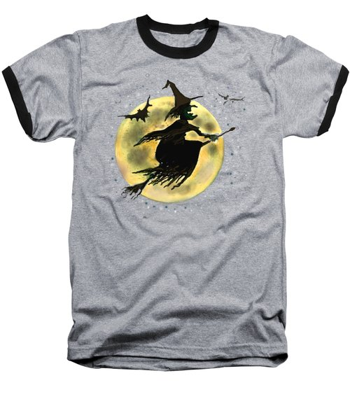 Halloween Witch Baseball T-Shirt