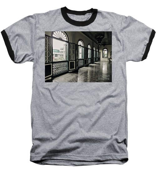Hallway Baseball T-Shirt by Charuhas Images